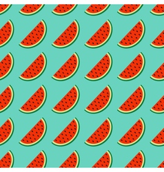 Watermelon slice cut with seed in a row Summer vector image vector image