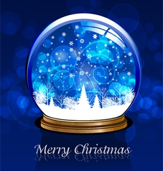 ball snow vector image vector image