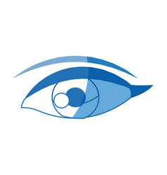 female eye optic cartoon icon vector image