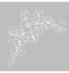 Flower ornament vector image vector image