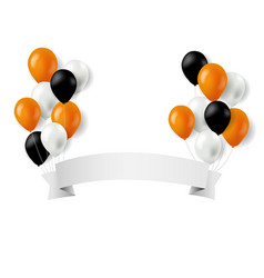 halloween balloons and banner vector image vector image
