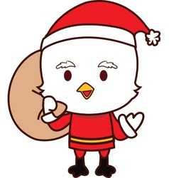 Little Chicken Santa vector image vector image