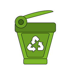 recycle bin icon image vector image