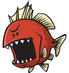 Red fish vector