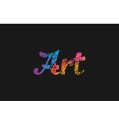 Art logo Creative logo design Colorful logo vector image vector image