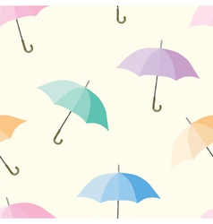 Seamless of colorful umbrellas vector image vector image