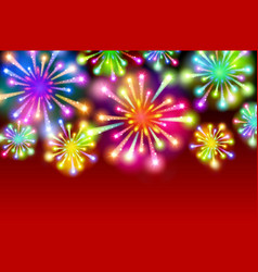starry fireworks background with place for text vector image