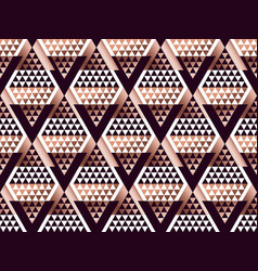 tribal traditional repeatable motif in art deco vector image