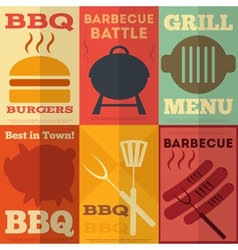 Barbecue Posters vector image vector image