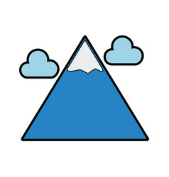 blue mountain cartoon vector image