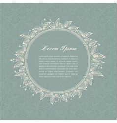 gray-blue calligraphic elements vector image