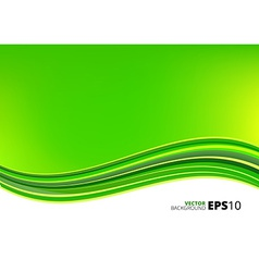 Green and white waves package background vector image