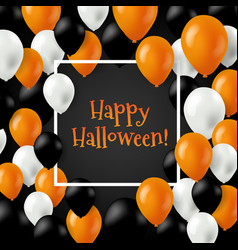 halloween card with balloons vector image vector image