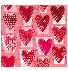 HeartsTexture vector image vector image
