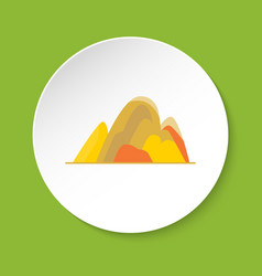Hill icon in flat style vector