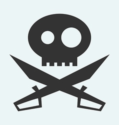 Icon of Jolly Roger symbol Pirate filibuster vector image vector image