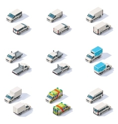 isometric vans set vector image