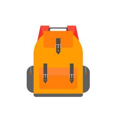 orange back pack for study schoolbag vector image vector image