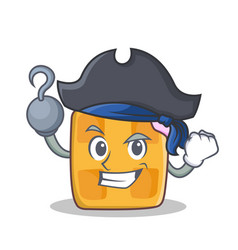 pirate waffle character cartoon design vector image