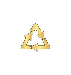 Recycle computer symbol vector image vector image