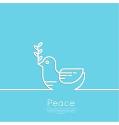 Symbol of peace dove vector image