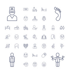 37 person icons vector