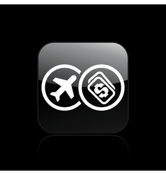Airplane ticket cost vector
