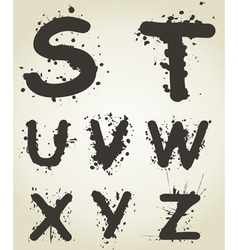 Alphabet a blot5 vector image