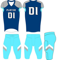 American football uniforms custom design vector