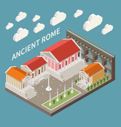 Ancient rome concept vector