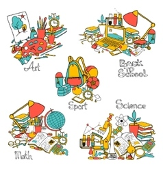 Back To School Decorative Set vector