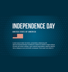 Banner style independence day art vector