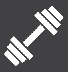 barbell glyph icon fitness and sport dumbbell vector image