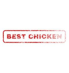 Best chicken rubber stamp vector