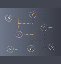 Blockchain stellar technology style background vector