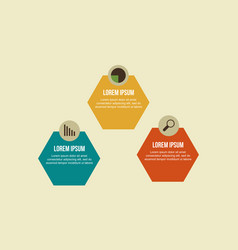 Business infographic step and icon design vector