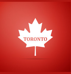 canadian maple leaf with city name toronto icon vector image