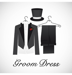card marriage groom suits vector image