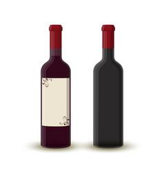 cartoon wine bottleempty transparent glass vector image