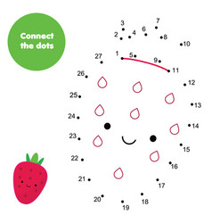 children educational game connect dots by numbers vector image