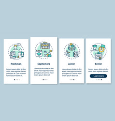 Class year onboarding mobile app page screen vector