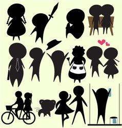 collection cartoon01 vector image