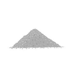 Crushed stone pile angular rock gray gravel vector