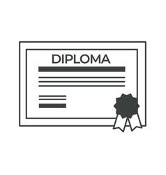 Diploma degree obtaining certificate vector