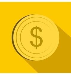Dollar icon flat style vector image