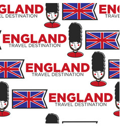England travel destination seamless pattern flag vector