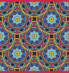 ethnic festive abstract floral pattern vector image