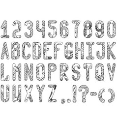 Exotic contrasting font from the outlines of palm vector