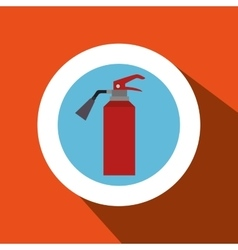 fire extinguisher protection icon vector image