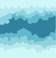 Flat cloud frame set of circle blue vector